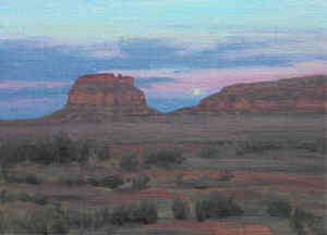 Moonrise-Fajada Butte 11x14.JPG (201262 bytes)